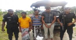 গোমস্তাপুরে ১০ কেজি গাঁজাসহ ৩ জন আটক