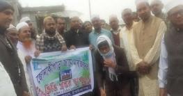 নাচোলের জোনাকী পাড়ায় নতুন জামে মসজিদের ভিত্তি প্রস্তর স্থাপন