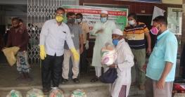 চাঁপাইনবাবগঞ্জ পৌরসভার ১৫টি ওয়ার্ডে বিভিন্ন খাদ্যপণ্য বিতরন