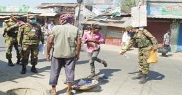 নাচোলে করোনা প্রতিরোধে সেনাবাহিনীর কঠোর তৎপরতা