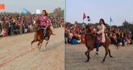 রহনপুরে ঘোড়াদৌড় প্রতিযোগিতা