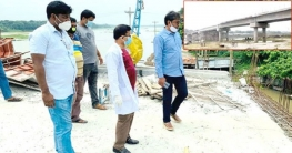 শিবগঞ্জে তর্ত্তিপুর ব্রীজ নির্মাণ কাজ পরিদর্শনে এমপি শিমুল